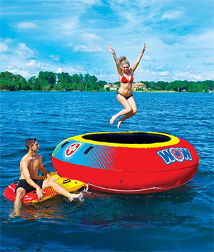 World of Watersports Inflatable Floating Trampoline