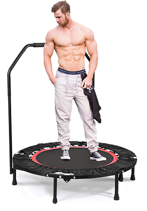 ancheer mini rebounder trampoline with handlebar